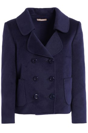 MICHAEL KORS COLLECTION Double-breasted wool, angora and cashgora-blend coat