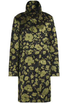 MICHAEL KORS COLLECTION Floral-print cotton and silk-blend coat