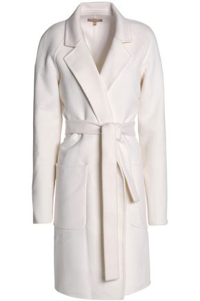 MICHAEL KORS COLLECTION Belted wool, agora and cashgora-blend felt coat