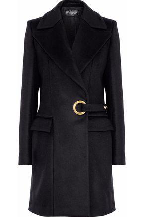 BALMAIN Wool wrap coat