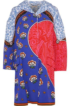 MARY KATRANTZOU Spence Kings printed cotton-blend cloqué coat