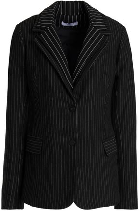 BAILEY 44 Layered pinstriped knitted blazer