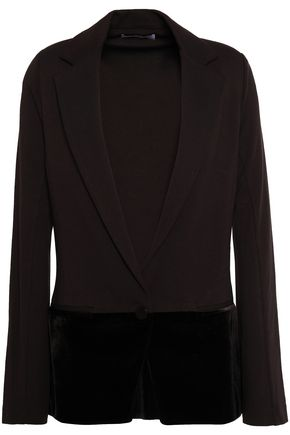 BAILEY 44 Prince Charming velvet-paneled stretch-jersey blazer
