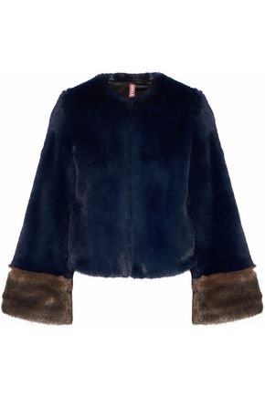 STAUD Juliette two-tone faux fur jacket