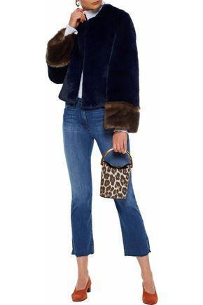 STAUD Juliette two-tone faux fur jacket