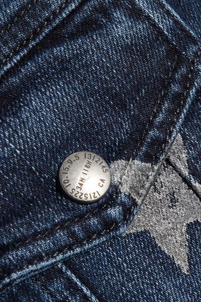 CURRENT/ELLIOTT The Mechanic painted denim jacket