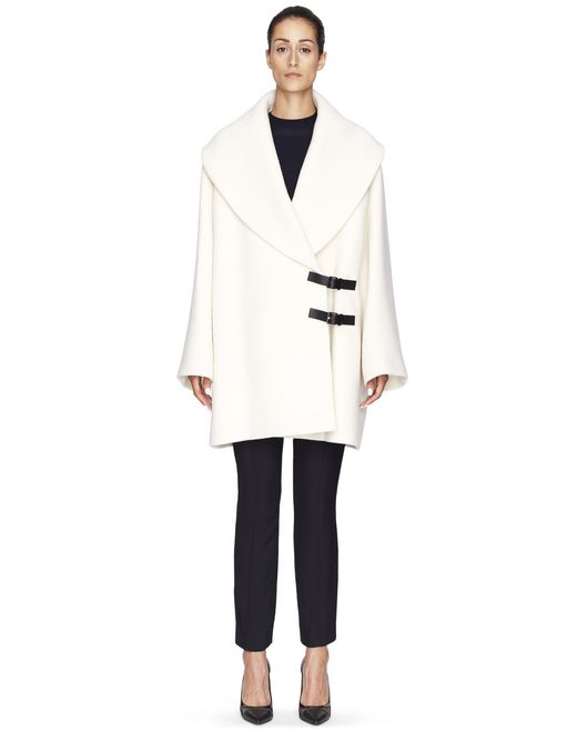 WHITE WOOL COAT - Lanvin