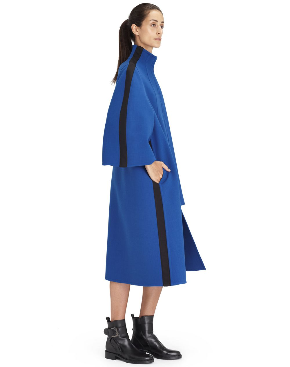 LONG INDIGO BLUE COAT - Lanvin