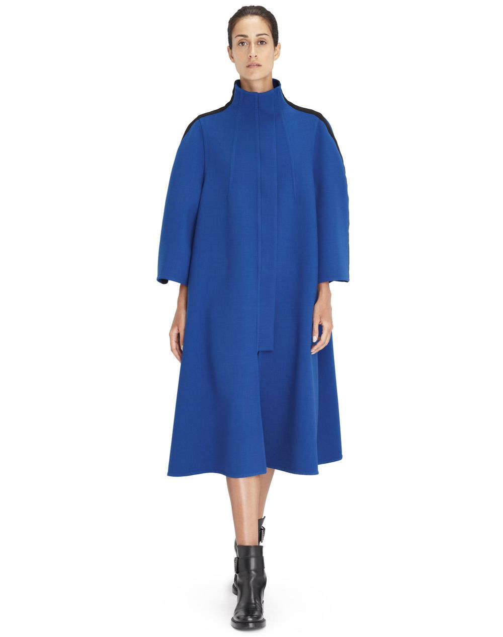 LONG INDIGO BLUE COAT - Lanvin