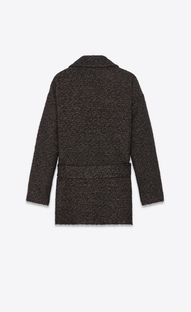 SAINT LAURENT Cappotti Donna Cappotto corto in tweed dorato con filato lamé b_V4