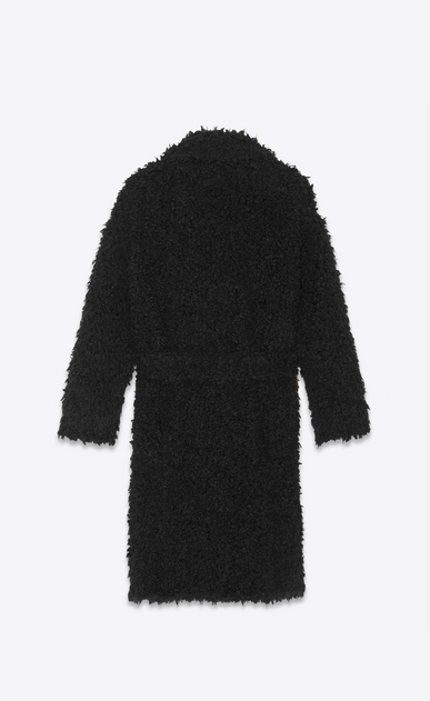 SAINT LAURENT Coats Woman Coat in black curly fur b_V4
