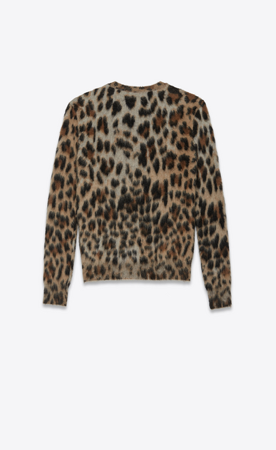 SAINT LAURENT Knitwear Tops Woman Sweater in leopard jacquard mohair b_V4