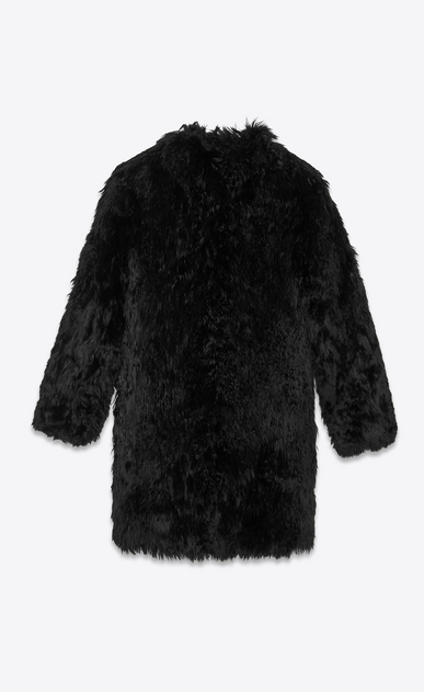 SAINT LAURENT Coats Woman Coat in black alpaca b_V4