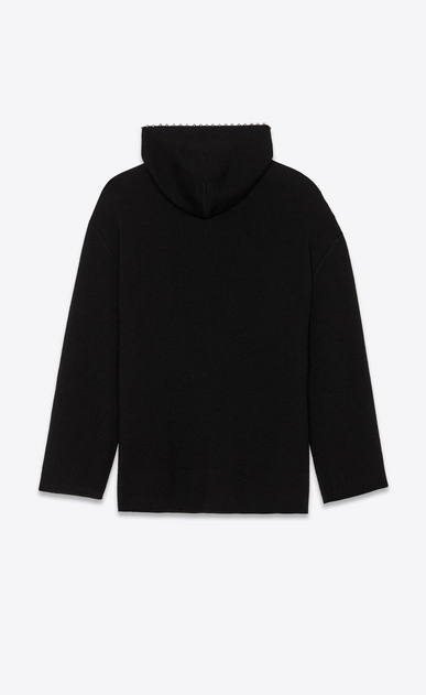 SAINT LAURENT Knitwear Tops Woman Studded baja embroidered with black wool b_V4