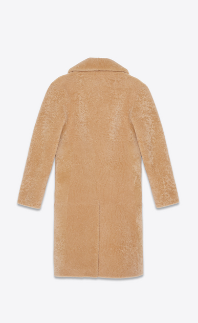 SAINT LAURENT Coats Man coat in honey shearling b_V4