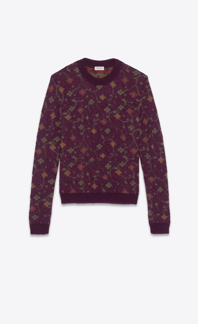 "SAINT LAURENT Knitwear Tops Man ""fleurs naïves"" jacquard knit a_V4"