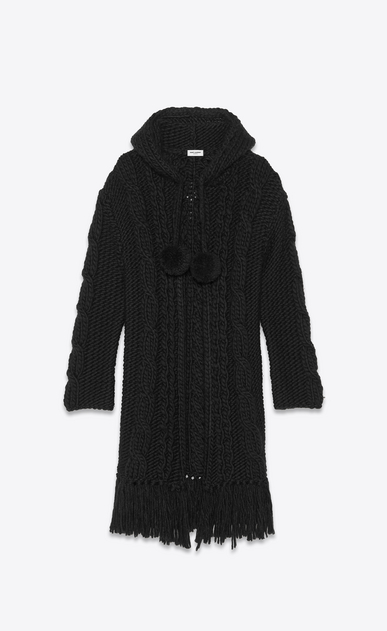 SAINT LAURENT Knitwear Tops Man long cable knit baja a_V4