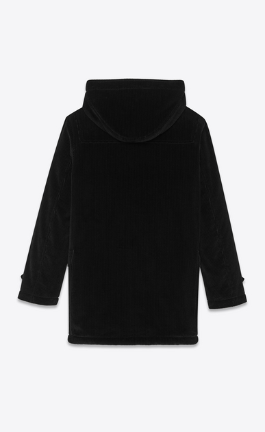 SAINT LAURENT Coats Man Duffle coat in black corduroy b_V4