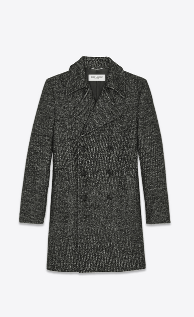 SAINT LAURENT Coats Man chevron wool pea coat a_V4