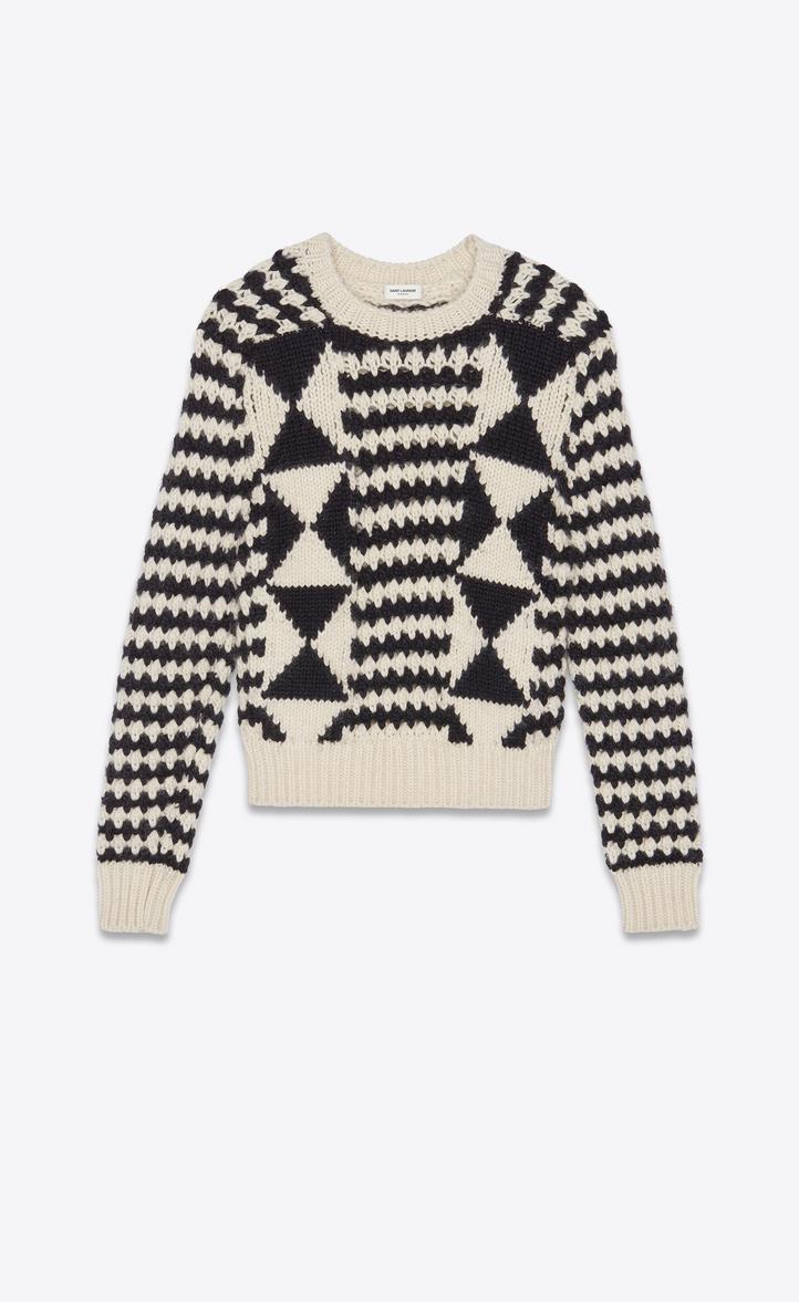 ボクシー グラフィック セーター(ブラック&ホワイト/ニット)
