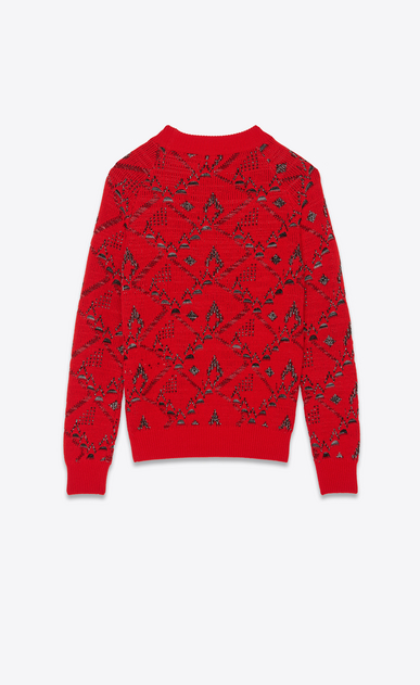 SAINT LAURENT Knitwear Tops Man high neck tapisserie jacquard knit b_V4