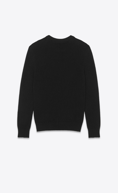 SAINT LAURENT Knitwear Tops Man Sweater in black cashmere b_V4