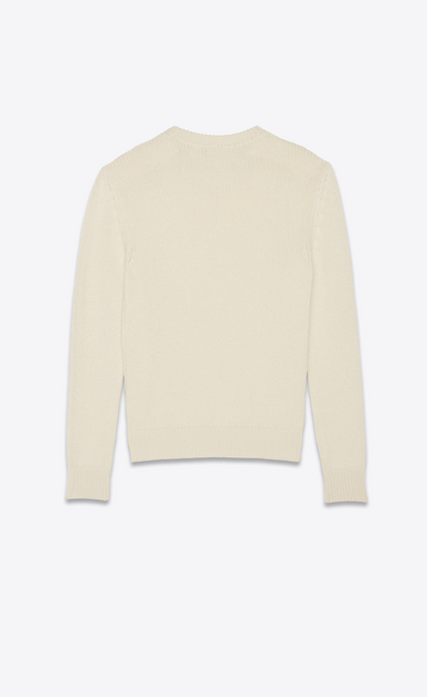 SAINT LAURENT Knitwear Tops Man Sweater in beige cashmere b_V4