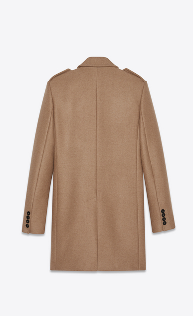 SAINT LAURENT Coats Man Coat in camel wool b_V4