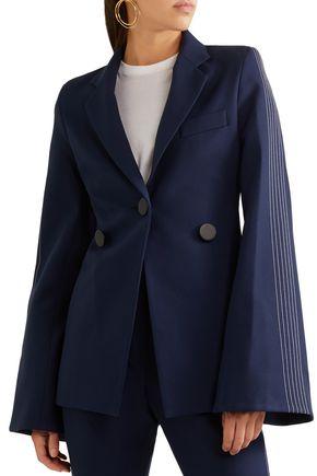 ELLERY Saratoga fluted crepe blazer
