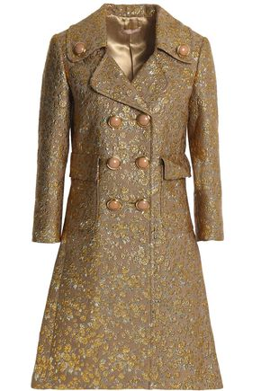 MICHAEL KORS COLLECTION Wool-blend brocade coat