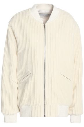IRO Isae ribbed wool-blend bomber jacket