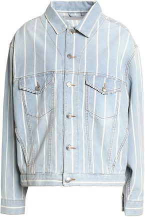 IRO Faded pinstriped denim jacket