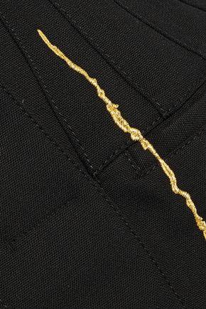HAIDER ACKERMANN Asymmetric metallic embroidered wool peplum jacket