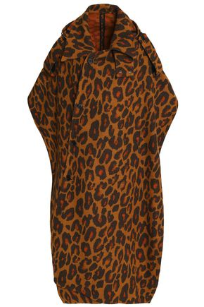MSGM Leopard-print wool-blend cape