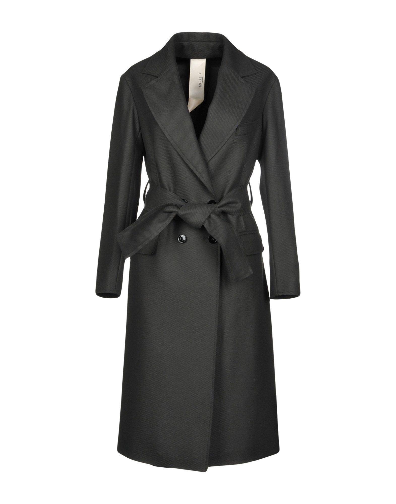 ANNIE P. Пальто 2016 осенью дамы сукно slim шерстяные пальто в длинные пальто