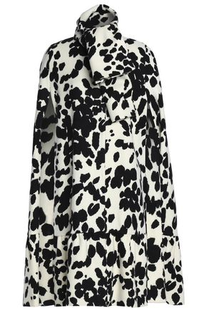 MSGM Printed wool cape