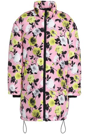MSGM Floral-print shell coat