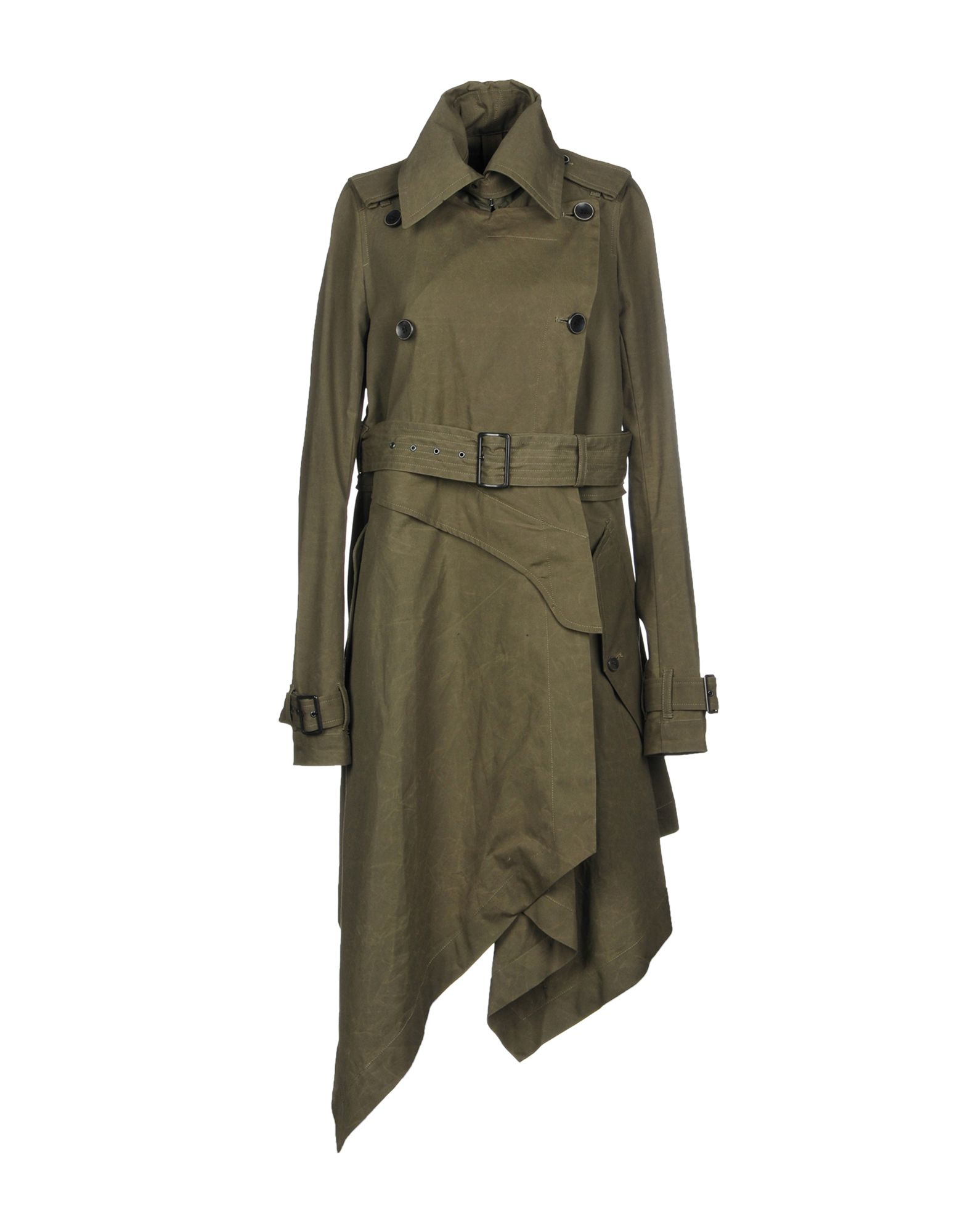 L.G.B. Double Breasted Pea Coat in Military Green