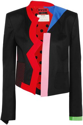 RONALD VAN DER KEMP Memphis color-block wool jacket