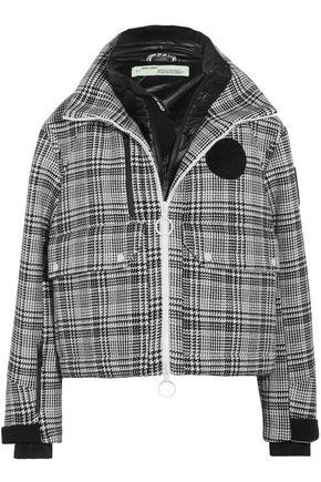 OFF-WHITE™ Neoprene-paneled checked tweed hooded jacket