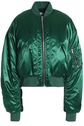 MSGM Ruched shell bomber jacket