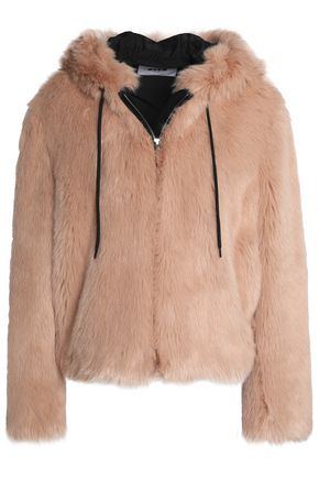 MSGM Faux fur hooded jacket