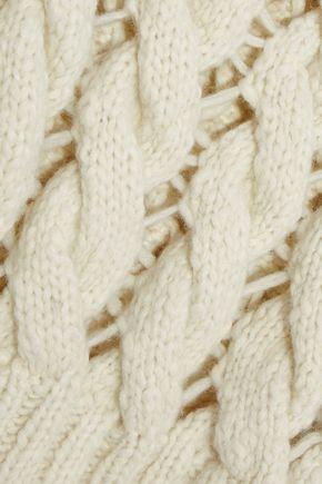 PHILOSOPHY di LORENZO SERAFINI Open cable-knit alpaca-blend sweater