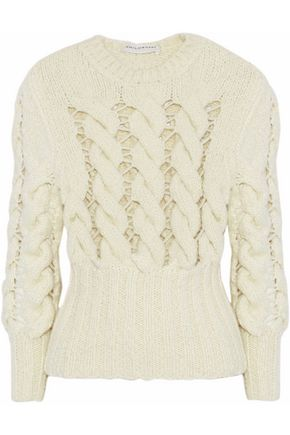 PHILOSOPHY di LORENZO SERAFINI Open cable-knit alpaca-blend sweater
