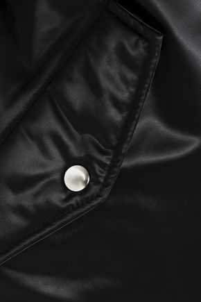 MSGM Oversized satin bomber jacket