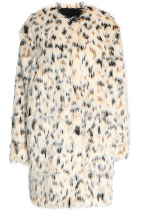 MSGM Printed faux fur coat