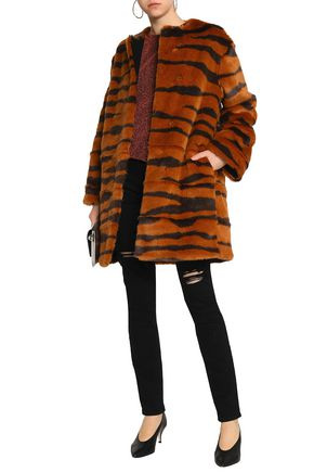 MSGM Printed faux fur coat