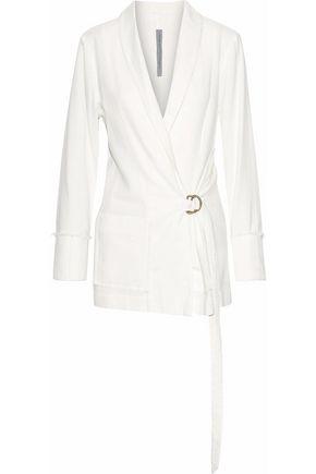 RAQUEL ALLEGRA Belted cotton-twill jacket