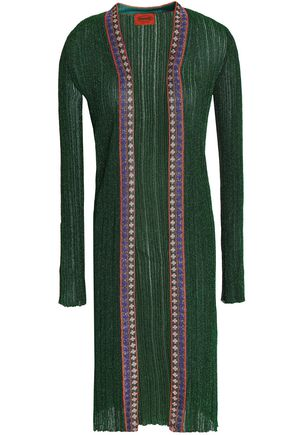 MISSONI Metallic ribbed-knit cardigan