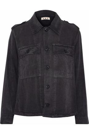AMO Ruffled brushed-twill jacket